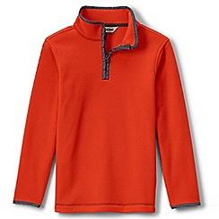 Lands' End - Orange boys' thermacheck 100 fleece pullover