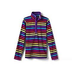 Lands' End - Multi girls' patterned fleece half-zip pullover