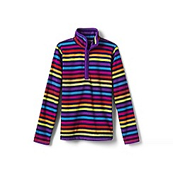 Lands' End - Girls' multi patterned fleece half-zip pullover