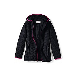 Lands' End - Girls' black lightweight packable primaloft jacket