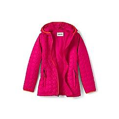 Lands' End - Girls' pink lightweight packable primaloft jacket