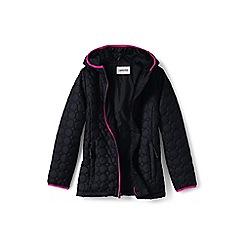 Lands' End - Girls' black lightweight packable primaloft jacket