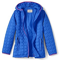 Lands' End - Girls' blue lightweight packable primaloft jacket
