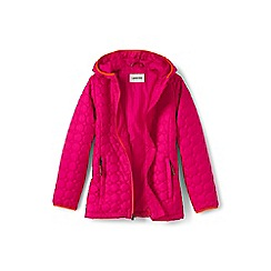 Lands' End - Girls' pink lightweight packable primaloft jacket