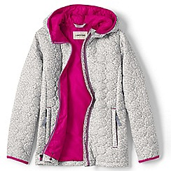 Lands' End - Girls' grey lightweight patterned packable primaloft jacket