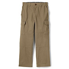 Lands' End - Beige boys' iron knee pull-on cargo trousers