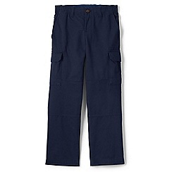 Lands' End - Blue boys' iron knee pull-on cargo trousers