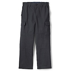 Lands' End - Grey boys' iron knee pull-on cargo trousers