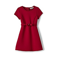 Lands' End - Red girls' short sleeve bonded knit dress