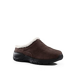Lands' End - Brown cosy suede mules