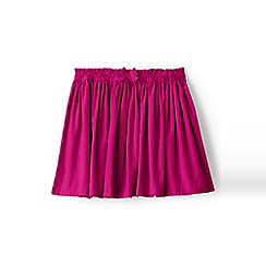 Lands' End - Girls' pink gathered cord skirt