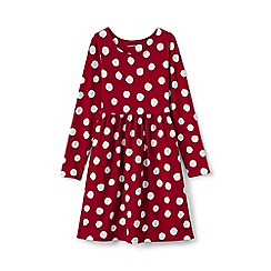 Lands' End - Red girls gathered waist jersey dress