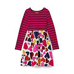 Lands' End - Girls' pink gathered waist jersey dress