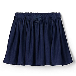 Lands' End - Blue girls' gathered chambray skirt