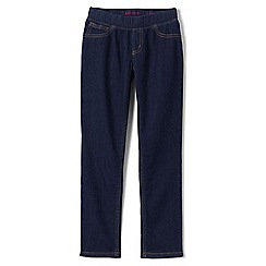 Lands' End - Blue girls' pull-on denim jeggings