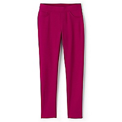 Lands' End - Girls' pink pull-on ponte jersey jeggings