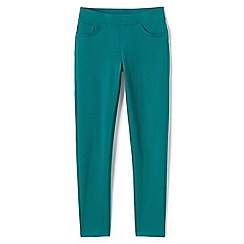 Lands' End - Girls' green pull-on ponte jersey jeggings