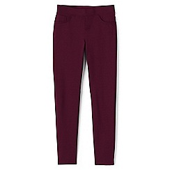 Lands' End - Girls' red pull-on ponte jersey jeggings
