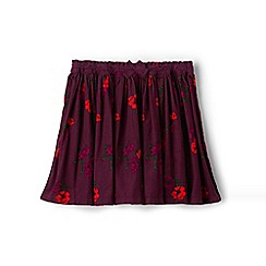 Lands' End - Girls' red gathered cord print skirt