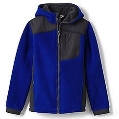 Lands' End - Boys' blue bonded fleece jacket