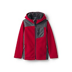 Lands' End - Boys' red bonded fleece jacket