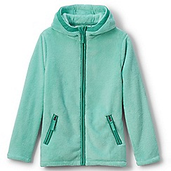 Lands' End - Girls' green softest fleece jacket