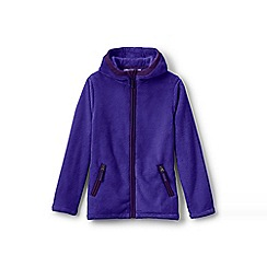 Lands' End - Girls' blue softest fleece jacket
