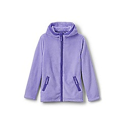 Lands' End - Girls' purple softest fleece jacket