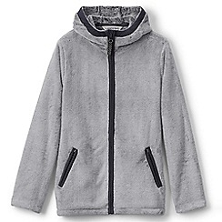 Lands' End - Girls' grey softest fleece jacket