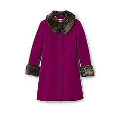 Lands' End - Pink girls' wool coat
