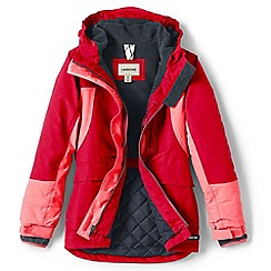 Lands' End - Red girls' squall parka