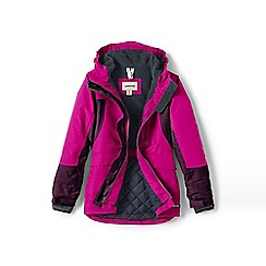 Lands' End - Pink girls' squall parka