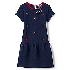 Lands' End - Blue girls' drop waist quilted dress