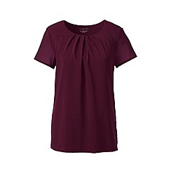 Lands' End - Red pleated front jersey tee