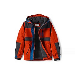 Lands' End - Boys' orange waterproof squall jacket