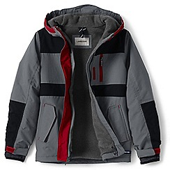 Lands' End - Boys' grey waterproof squall jacket