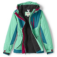 Lands' End - Girls' green squall parka