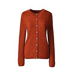 Lands' End - Orange classic cashmere crew neck cardigan