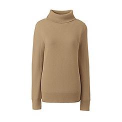 Lands' End - Brown cashmere roll neck