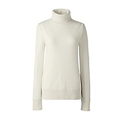 Lands' End - Cream cashmere roll neck