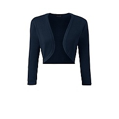Lands' End - Blue fine gauge supima bolero