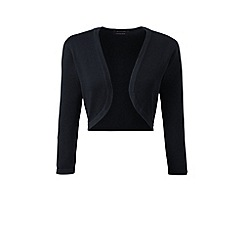 Lands' End - Black fine gauge supima bolero