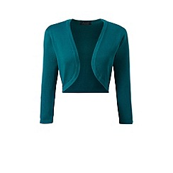 Lands' End - Green fine gauge supima bolero