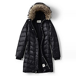 Lands' End - Black girls' fashion down coat
