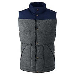 Lands' End - Grey regular hyperdry down gilet