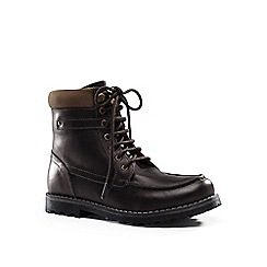 Lands' End - Brown lugged leather boots
