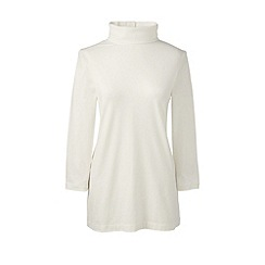 Lands' End - Cream roll neck tunic