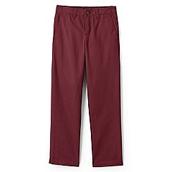 Lands' End - Red boys' iron knee cadet trousers