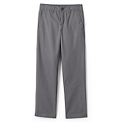 Lands' End - Boys' grey iron knee cadet trousers