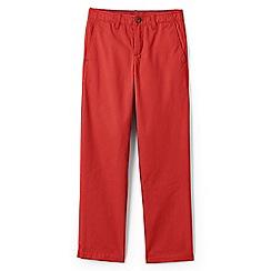 Lands' End - Boys' orange iron knee cadet trousers